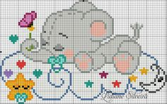 This Pin was discovered by Ana Baby Cross Stitch Patterns, Cross Stitch Baby, Cross Stitch Animals, Cross Stitch Charts, Cross Stitch Designs, Cross Stitching, Cross Stitch Embroidery, Hand Embroidery, Beading Patterns
