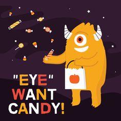 What's a monster's favorite dessert? EYE-scream! #awinkandasmile #eyeanddentalcare
