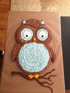 Owl cake by Lacy Schneider