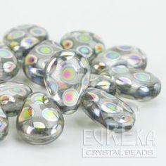 Crystal Peacock Pear Shaped Drop 13x10 mm | Eureka Crystal Beads