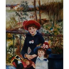 Renoir - Two Sisters (On the Terrace) Oil Painting www.overarts.com
