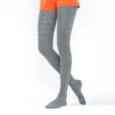 Cable Knit Tights, Sweater Tights, Grey Tights, Patterned Tights, Opaque Tights, Thermal Tights, Japanese Socks, Pantyhose Outfits, Vintage Closet