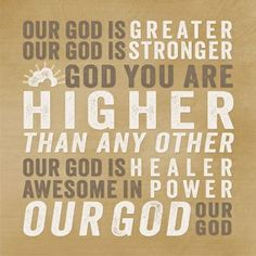Our God Is Greater Plaque