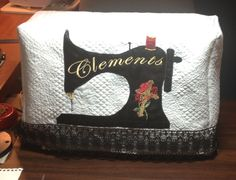 Sewing Machine Cover. Classy & elegant. Hand made by @Donna Clements #sewing