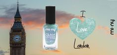 I LOVE LONDON  Glam Nails With MI-NY GLITTER Collection!  SHOP ONLINE: http://www.minyshop.com/it/glitter/246-i-love-london.html