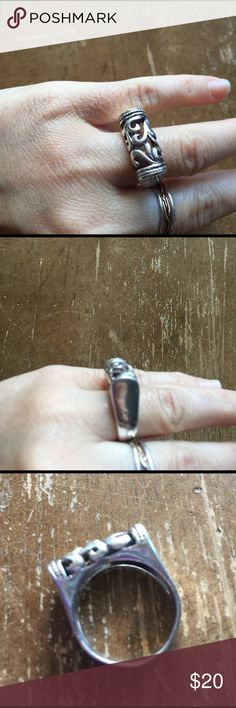 Ring Sterling silver solid 925 size 8/1.5 ❤ Ring Sterling silver solid 925 vintage size 8/1.5 Jewelry Rings