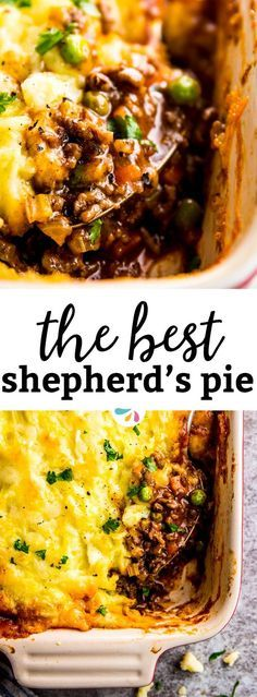 Homemade shepherd's pie is the ultimate comfort food. This simple recipe is made completely from scratch like the traditional, but uses ground beef instead of lamb for a more budget friendly family meal. Filled with healthy vegetables and super comforting flavors, this is the casserole recipe you've been waiting for this fall! Easy, filling, healthy and delicious. | #recipes #comfortfood #fallrecipes #casserole #beef #casserolerecipes #familyfriendly #kidfriendly #familyrecipes #casseroles