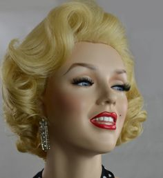 Custom Styled Marilyn Monroe Lace Front Blonde Wig 50's Glamour OOAK