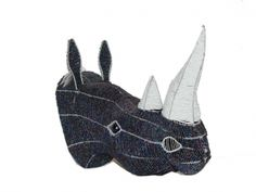 Rhinoceros - By Bishop of Master Wire and Bead Craft Rhino Art, Rhinoceros, Animal Crafts, Bead Art, Bead Crafts, Rhinos, Africa, Wire, Beads