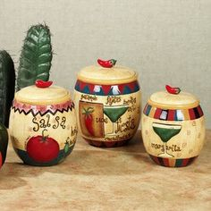 Fiesta Kitchen Canisters   4pc Canister Set Bell Pepper Color Fiesta By Marcel Imports