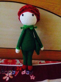 Rose Roxy doll made by Ech N - crochet pattern by Zabbez
