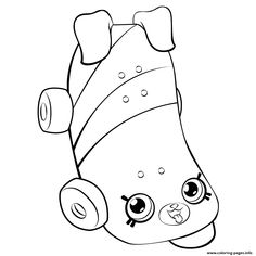 Skateboard For Girls Shopkins Season 5 Coloring Pages Printable And Book To Print Free Find More Online Kids Adults Of
