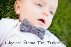 Mommy Minutes: Clip-on Bow Tie Tutorial - and for Rocco - done and done