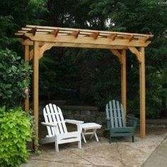 Wooden Outdoor Small Pergola , Small Pergola Designs In Landscaping And Outdoor Building Category