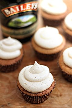 coffee cupcakes with baileys buttercream.