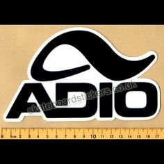 d77fa8c30e Adio Footwear Skateboard Sticker [£1.50] We post Fast and Worldwide with  low postage