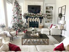 Christmas Home Tour with Pops of Red