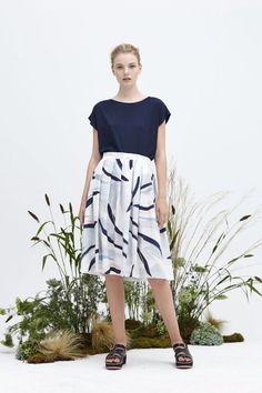 Kuwaii Fern pleated Skirt is a full, breezy and light summer skirt, that…