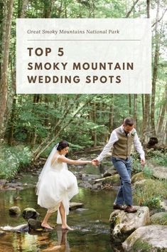 The top Great Smoky Mountains National Park wedding venues and best elopement locations for engaged couples to have an adventure wedding. Wedding Spot, Wedding Places, Elope Wedding, Wedding Posing, 1920s Wedding, Lesbian Wedding, Wedding Ideas, Wedding Pictures, Wedding Details