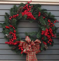 Red Berry Custom Wreath by Bremec Christmas Scenes, Christmas Art, Christmas Wreaths, Advent, Reading Club, Fresh Green, Xmas Ideas, Holiday Decorations, Winter Season