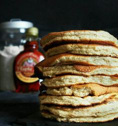 Healthy chickpea flour pancakes - (with a zero) - Chickpea flour pancakes - Chickpea Flour Pancakes, French Crepes, Crepe Recipes, French Toast Casserole, Lactose Free, Food Truck, Sweet Recipes, Breakfast Recipes, Good Food
