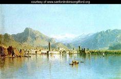 Sanford Robinson Gifford Lake Nemi Italy | Lago di Garda, Italy - Sanford Robinson Gifford - www ...