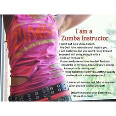 Zumba instructors are....