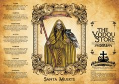 Search Results -> santa muerte : The Vodou Store Santa Muerte Prayer, Money Prayer, Mexican Art Tattoos, Halloween Potions, Halloween Crafts, Voodoo Hoodoo, Capricorn And Virgo, Satanic Art, Candle Labels