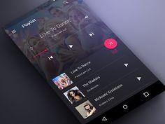 Material Music Player UI Dark by Ali Sayed 