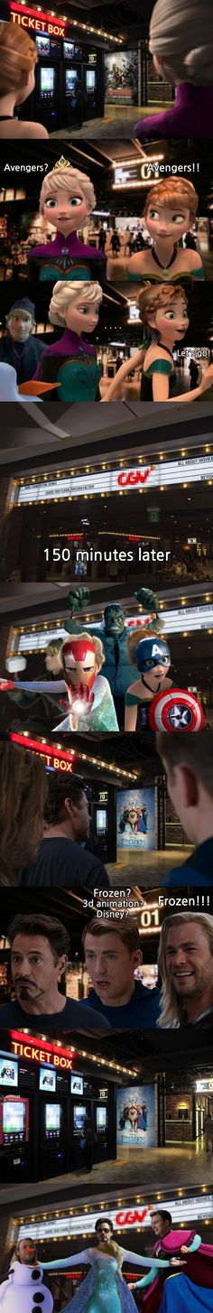 can we take a moment to appreciate this / marvel humor / Disney humor Funny Marvel Memes, Marvel Jokes, Dc Memes, Avengers Memes, Avengers And, Marvel Marvel, Humour Disney, Funny Disney Memes, Funny Jokes