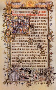 One of the group of manuscripts made for the Bohun family, this very beautiful Book of Hours was probably made for Mary de Bohun after her marriage in 1380 to Henry of Bolinbroke (the future Henry IV), son of John of Gaunt.