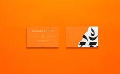 Buddhafields on Behance, business cards, ornage, buddha, energy, stationery