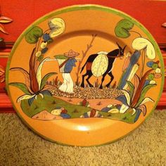 """:D❤️❤️❤️Huge Tlaquepaque Charger 20"""" Mexican Pottery"""