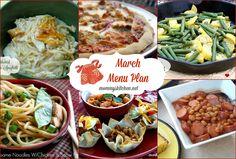 Mommy's Kitchen - Recipes From my Texas Kitchen!: March Menu - Menu Plan Monthly #menuplanning #marchmenu #mommyskitchen