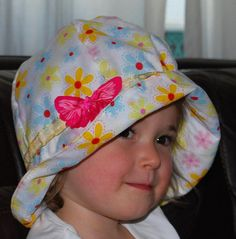 White girls sun hat with flower print pink butterfly double Baby Boy Clothes Online, Trendy Baby Boy Clothes, Toddler Boy Fashion, Toddler Outfits, Girls Cape, Cute Hats, Pink Butterfly, Summer Hats, White Girls