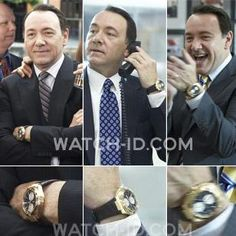 Kevin Spacey, a fan of IWC, wears a Big Ingenieur Chronograph in the movie Casino Jack