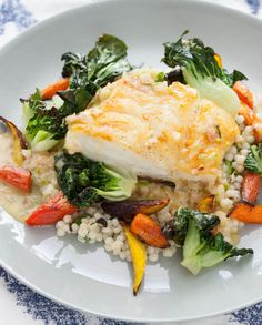 Seared Cod with Kaffir Lime Butter Sauce from @blueapron.com