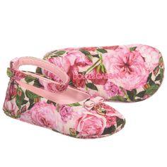 Dolce & Gabbana - Baby Girls 'Rose' Pre-Walker Shoes   Childrensalon