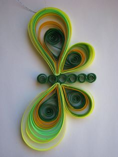 Quilled Butterfly Ornament by NatureMaidTreasures on Etsy, $8.00