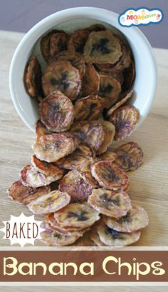 Homemade Baked Banana Chips - Simple carbohydrates from dried fruit are easily digested for quick fuel!