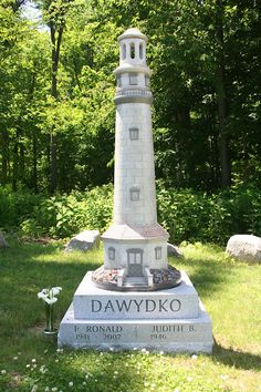 Lighthouse gravestone Clarence Fillmore Cemetery New York