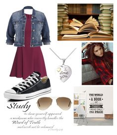 """""""Studying"""" by shenyra on Polyvore featuring polyvore fashion style H&M maurices Converse Ray-Ban WALL clothing"""
