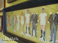 paper dolls as art, I think I have some ballerina oones from when I was little I could use for my little girl #art