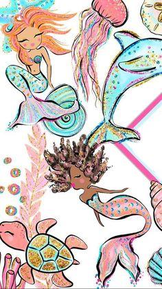 iphone wallpaper mermaid Wallpaper Iphone Feminino Sereia New Ideas Mermaid Wallpaper Backgrounds, Mermaid Wallpapers, Cute Wallpapers, Iphone Wallpaper, Mermaid Fairy, Mermaid Tale, Cute Mermaid, Unicorns And Mermaids, Real Mermaids