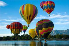 Ride in a hot air balloon.