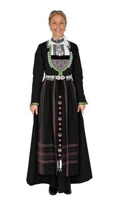 Bilderesultat for vinterdrakt hardanger Folk Costume, Costumes, Everyday Dresses, Fashion Dresses, Textiles, Embroidery, Inspiration, Clothes, Bergen