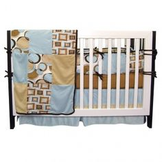 Bubbles 4pc Crib Bedding Set