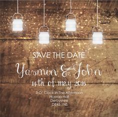 Rustic Wedding Save The Date - Send Online