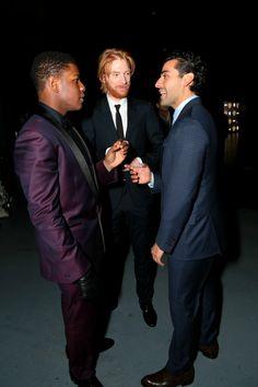 John Boyega, Domhnall Gleeson and Oscar Isaac