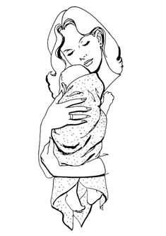 baby tattoos for moms 453948837420814676 Mothers Day Coloring Sheets, Baby Coloring Pages, Adult Coloring, Mama Baby, Mom And Baby, Girl Drawing Sketches, Baby Drawing, Art Drawings, Mom Baby Tattoo